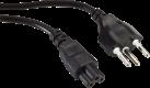 Value Câble de raccordement secteur - T12-C5 3 pol. - 1 m - Noir