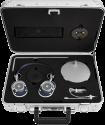 MASTER & DYNAMIC Zero Halliburton Kit MH40 + ME05 - Over-Ear + In-Ear Kopfhörer - Blau-Silber / Schwarz-Palladium