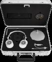 MASTER & DYNAMIC Zero Halliburton Kit MH40 + ME05 - Over-Ear + In-Ear Kopfhörer - Weiss-Silber / Schwarz-Chrom