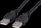 Maxxtro USB 2.0 cable USB Typ A-Fiche USB Typ A-Fiche, 1.8 m, noir