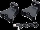 bigben PS3 Stazione di caricamento + Controller wireless Luminous RF-Blacklight - Nero/Trasparente