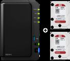 Synology DiskStation DS216+II - NAS-Server - 6 TB - Schwarz