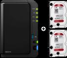 Synology DiskStation DS216+II - NAS-Server - 8 TB - Schwarz