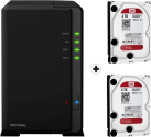 Synology DiskStation DS218play - NAS-Server - 2x 2 TB WD Red Festplatte - Schwarz