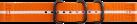 SAMSUNG Gear Sport Premium - Nato-Armband - Orange/Weiss
