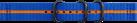 SAMSUNG Gear Sport Premium - Nato-Armband - Blau/Orange
