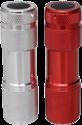 schönenberger LED Taschenlampe - 1 W - 2 Stk. - Rot/Silber