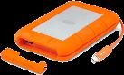 LaCie Rugged Thunderbolt - Externe Festplatte - 1 TB - orange