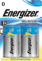 Energizer Advanced - D Batterie - 2 Stück