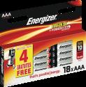Energizer MAX - AAA Batterien - 14+4 Stück