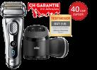 Braun Series 9 9291cc w&d CH-Edition - Rasoir - Rasage sur peau humide ou sèche - Argent