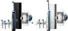 BRAUN Oral-B Genius 9000S Black + BRAUN Oral-B Genius 8000 - Elektrische Zahnbürsten - Rotationen 8800 pro min. - Schwarz/Weiss