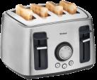Trisa FamilyToast - Toaster - 1600 Watt - Anzahl Scheiben 4 - Edelstahl