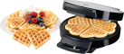Trisa Waffle Pleasure - Ferro per wafer - 1000 W - Acciaio inossidabile/Nero