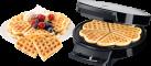 Trisa Waffle Pleasure - Waffeleisen - 1000 W - Edelstahl/Schwarz