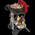 Ohmex GRILL 3670 - Barbecue elettrici - 1500 watt - Nero/rosso