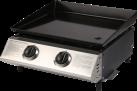 Ohmex BBQ 2020 - Gas Grill-Plancha - 2 x 11000 BCU - Silber