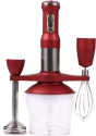 HELLS KITCHEN HMX 1180 KIT HK - Handmixer - 700 Watt - Rot