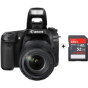 Canon EOS 80D - Appareil photo reflex (DSLR) - 24.2 MP - Wi-Fi/NFC - Noir