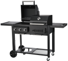 CHEF CENTRE TWIN GRILL T:36 - Holzkohlegrill + Gasgrill - Schwarz