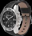 MYKRONOZ ZeClock Premium, silber/schwarz