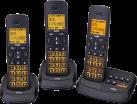 SWITEL DCT 59073 Trio - Telefono fisso senza fili - Nero