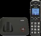 SWITEL D 7000 Vita+ - Telefono fisso senza fili - con pulsante SOS - Nero