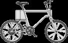 SOFLOW YunBike C1 Men - E-Bike - Autonomie: 0 - 75 km - Argent