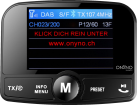 ONYNO Model 8.0 - DAB+ FM-Transmitter - Mit Bluetooth - Schwarz
