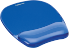 Fellowes Crystal™ Gel - Handgelenkauflage mit Mauspad - Blau