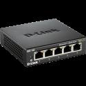 D-Link DGS 105 - Switch - 5 Ports - Bis zu 2000 Mbit/s - Schwarz