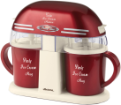 Ariete PARTY TIME Ice cream maker - Eiscremehersteller - 2 x 0.3 l - Rot
