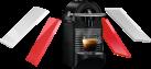 De'Longhi PIXIE CLIPS EN126 - Nespresso Kapselsystem - 1260 W - Leicht abnehmbarer 0,7 l Wassertank - Rot/Weiss