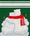 Coca-Cola Bears - Coperta in pile