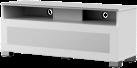 meliconi MyTv Stand 12040H Glass - Mobile per schermo piatto - Con metà pannello frontale in vetro permeabile ai raggi infrarossi - Bianco