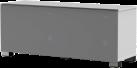 meliconi MyTv Stand 12040F Textile - Mobile per schermo piatto - Con pannello frontale in tessuto permeabile alle radiazioni infrarosse - Bianco
