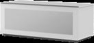meliconi MyTv Stand 12050F Glass - Mobile per schermo piatto - Con metà pannello frontale in vetro permeabile ai raggi infrarossi - Bianco
