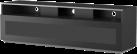 meliconi MyTv Stand 16040H Glass - Mobile per schermo piatto - Con metà pannello frontale in vetro permeabile ai raggi infrarossi - Nero