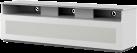 meliconi MyTv Stand 16040H Vetro - Mobile per schermo piatto - Con metà pannello anteriore in vetro permeabile ai raggi infrarossi - Bianco
