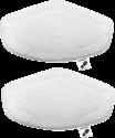 POLTI Set de Chiffons de nettoyage - 2 pièce - Blanc