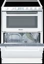 CANDY TRIO 9503 / 1W - Kochherd 3 in 1 - Energieeffizienzklasse A -  Glaskeramik-Kochfeld mit 4 Zonen - Weiss
