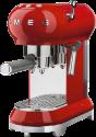 smeg 50's Retro Style - Espresso-Kaffeemaschine - Mit Edelstahl-Siebträger - Rot