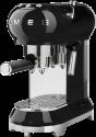 smeg 50's Retro Style - Espresso-Kaffeemaschine - Mit Edelstahl-Siebträger - Schwarz