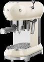 smeg 50's Retro Style - Espresso-Kaffeemaschine - Mit Edelstahl-Siebträger - Creme