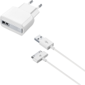 cellularline USB Charger Kit - Cavo del caricatore + Ricarica - 1 m - Bianco