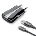 cellularline USB Charger Compact Kit, schwarz