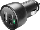 cellularline Dual USB Micro Car Charger, nero