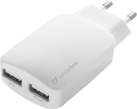 cellularline Dual Charger - Chargeur USB - Pour iPhone/iPad - Blanc