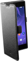 cellularline Book Essential Pocket - Custodia a libro - Per Sony Xperia T3 Style - Nero