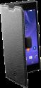 cellularline Book Essential Pocket - Schutztasche im Book-Style - Für Sony Xperia T3 Style - Schwarz